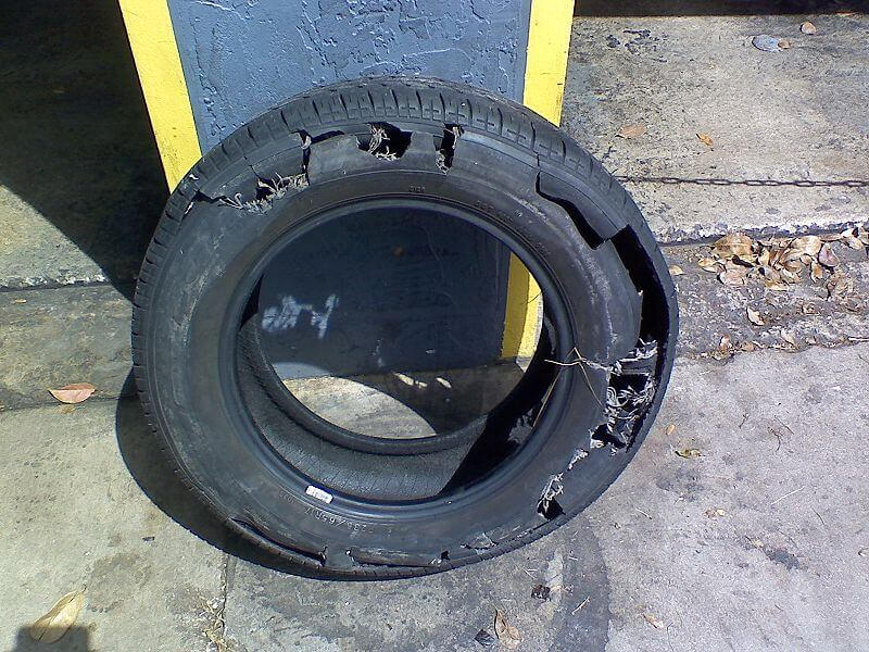 Why has my tyre suddenly disintegrated?