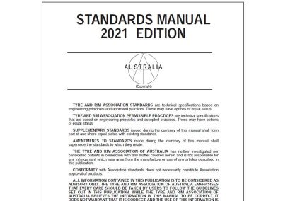 Copyright 2021 T & RA Standards Manual